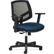 HON Volt Series Task Chair, Mesh Back, Pneumatic, Swivel, Synchro Tilt, Navy