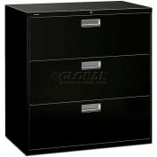 "HON® - Brigade®  600 Series 3 Drawer Lateral File, 42""W, Black"