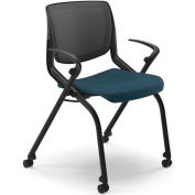 HON Motivate Nesting/Stacking Chair, Regatta Blue Shell, Cerulean Fabric