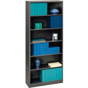 HON® Brigade Bookcases Brigade Steel Six-Shelf Bookcase 34-1/2W Black