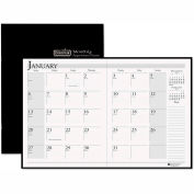 House of Doolittle Ruled Planner with Stitched Leatherette Cover, 8-1/2 x 11, Black, 2015-2016