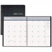 House of Doolittle Ruled Monthly Planner, 14-Month December-January, 8-1/2 x 11, Black, 2015-2016