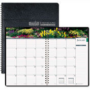 House of Doolittle™ Gardens of the World Ruled Monthly Planner, 7 x 10, Black, 2016