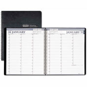 House of Doolittle Two-Year Professional Weekly Planner, 15-Min. Appts., 8-1/2 x 11, Blk, 2016-2017