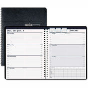 House of Doolittle Weekly Business Planner, 7 x 10, Black, 2016