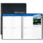 House of Doolittle™ Earthscapes Weekly Appointment Book, 8-1/2 x 11, Black, 2016