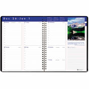 House of Doolittle Earthscapes Executive Hardcover Weekly Appointment Book, 8-1/2 x 11, Black, 2016