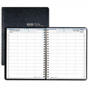 House of Doolittle™ Eight-Person Group Practice Daily Appointment Book, 8 x 11, Black, 2016
