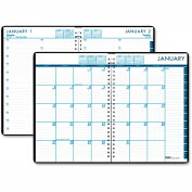 House of Doolittle™ 24/7 Daily Appointment Book/Monthly Planner, 7 x 10, Black, 2016