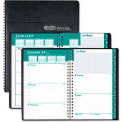 House of Doolittle™ Express Track Weekly/Monthly Appointment Book, 5 x 8, Black, 2016-2017