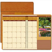 House of Doolittle Landscapes Full-Color Monthly Planner, Ruled, 8-1/2 x 11, Brown, 2016