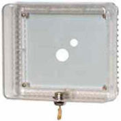Honeywell Medium Universal Thermostat Guard W/ Clear Cover And Base Opaque Wallplate TG511A1000