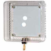 Honeywell Medium Thermostat Guard W/ Beige Painted Steel Cover Opaque Ring Base Wallplate TG511D1004