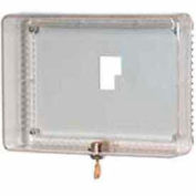 Honeywell Large Universal Thermostat Guard W/ Clear Cover Base Opaque Wallplate TG512A1009