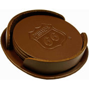 Promotional Coasters - Bison Brown Coaster Set, 4 Piece