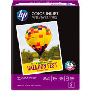 "HP Color Inkjet Paper 202000, 8-1/2"" x 11"", White, 500 Sheets/Ream"