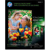 """HP Everyday Photo Paper Q8723AND, 8-1/2"""" x 11"""", White, 50/Pack"""