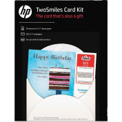 """HP TwoSmiles Card Kit SF788A, 5"""" x 7"""", White, 10 Sheets/10 Envelopes"""