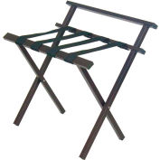 Brown Metro Luggage Rack With Back - Pkg Qty 4