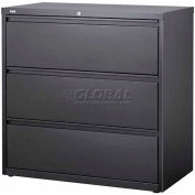"Hirsh Industries® HL10000 Series® Lateral File 36"" Wide 3-Drawer - Charcoal"