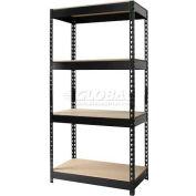 "Hirsh Industries® 30""W x 16""D x 60""H, Riveted Steel Boltless Shelving Unit, 4-Shelf"