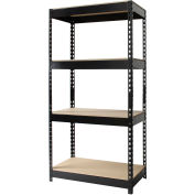 "Hirsh Industries® 30""W x 16""D x 60""H, Riveted Steel Boltless Shelving Unit, 4-Shelf"