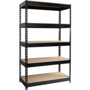 "Hirsh Industries® 36""W x 16""D x 60""H, Riveted Steel Boltless Shelving Unit, 5-Shelf"