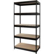 "Hirsh Industries® 36""W x 18""D x 72""H, Riveted Steel Boltless Shelving Unit, 5-Shelf"