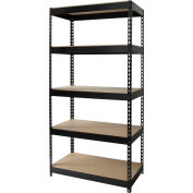 "Hirsh Industries® Riveted Steel Boltless Shelving Unit, 36""W x 18""D x 72""H,5-Shelf, 3800lbs Cap"