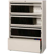 """Hirsh Industries® HL8000 Series® 36""""W Receding Drawer Front Lateral File 4-Drawer- Putty"""