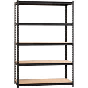 "Hirsh Iron Horse 2300 Heavy Duty 48""W x 24""D x 72""H 5 Shelf Storage Rack in Black"