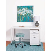 "Hirsh Industries® Steel Industrial 48"" Mobile Desk in White"