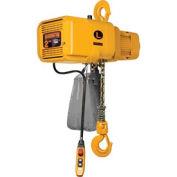 NER Dual Speed Electric Chain Hoist - 2 Ton, 15' Lift, 7/1 ft/min, 460V