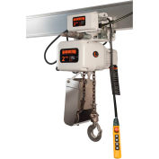Harrington NERM003LD-SD-FG-10 NER Food Grade Hoist with Motorized Trolley 1/4 Ton Capacity, 230V