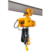 SNER Electric Chain Hoist w/ Push Trolley - 1 Ton, 10' Lift, 14 ft/min, 115V