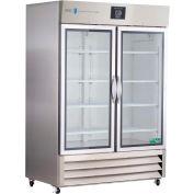 American Biotech Supply Premier Stainless Steel Glass Door Laboratory Refrigerator, 49 Cu. Ft.