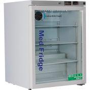 ABS Premier Pharmacy/Vaccine Undercounter Refrigerator, Freestanding, Glass Door, 5.2 Cu. Ft.