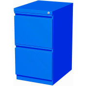 "Hirsh Industries® 20"" Deep File/File Mobile Pedestal - Blue"
