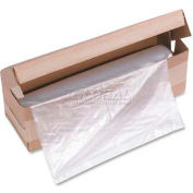 HSM® HSM1815 34 Gal Capacity Shredder Bag, Clear, 100/Roll