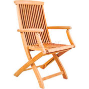 Hi-Teak Outdoor Folding Armchair, Unfinished Teak Wood