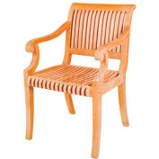 Hi-Teak Outdoor R Armchair, Unfinished Teak Wood