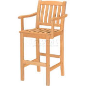 Hi-Teak Outdoor Bar Armchair, Unfinished Teak Wood
