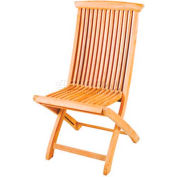Hi-Teak Outdoor Folding Chair, Unfinished Teak Wood