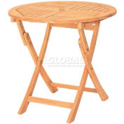Hi-Teak Outdoor Classic Folding Table, Unfinished Teak Wood