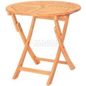 Hi-Teak Outdoor Classic Folding Table, Unfinished Teak Wood