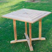 Hi-Teak Outdoor Hl Squared Table, Unfinished Teak Wood
