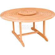 Hi-Teak Outdoor Small Round Royal Table, Unfinished Teak Wood