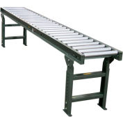 """Hytrol® 10 Ft., 18""""W, 1.9""""Dia. Galvanized Rollers - 15"""" Between Rail - 4.5"""" Rollers Centers"""