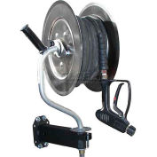 HOT-2-GO 360° Pivoting Stainless Steel Pressure Washer Hose Reel 150' Capacity