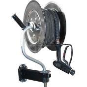 Hydro-Tek 360° Pivoting Stainless Steel Pressure Washer Hose Reel 150' Capacity